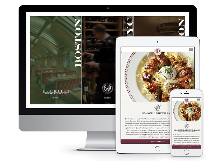 Bar Boulud Restaurants Website by Creating Digital