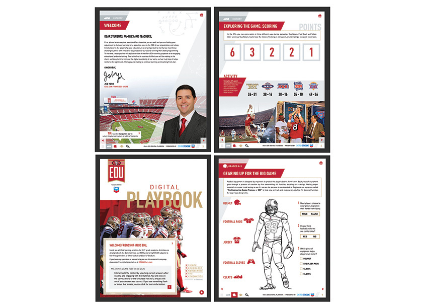 49ers STEAM Digital Playbook by Schipper Design