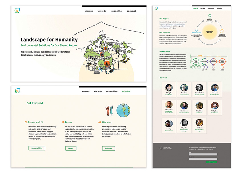MiHyun Kim Landscape For Humanity Website Design