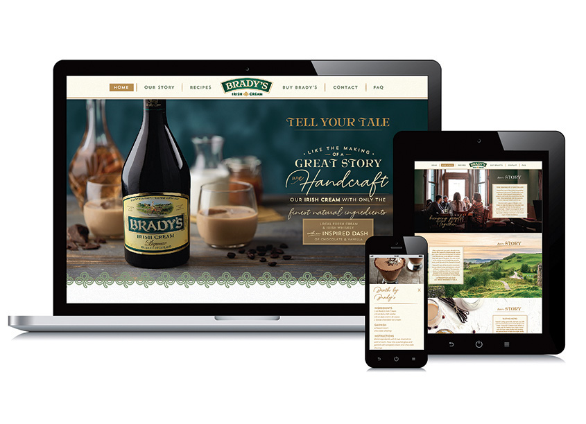 Smith Design Brady's Irish Cream Website Design