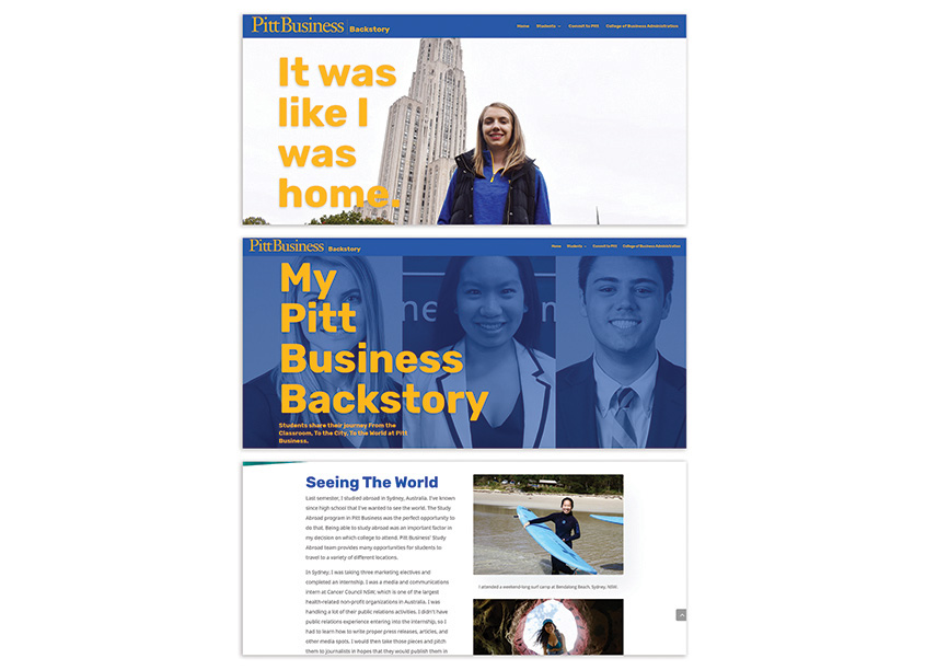 University of Pittsburgh College of Business Administration Mark Pitt Business Backstory