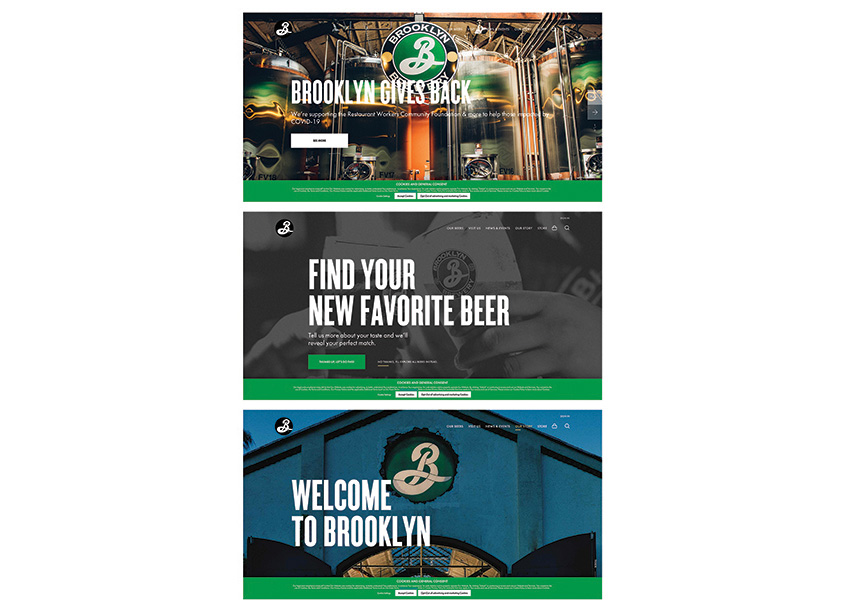 Traina Design Brooklyn Brewery Website