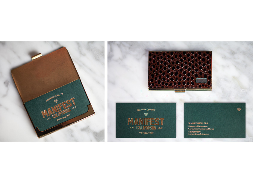 The Grass Agency Manifest California Business Cards and