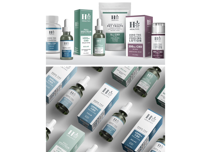 FAI Design Group HealthyT CBD Brand Packaging