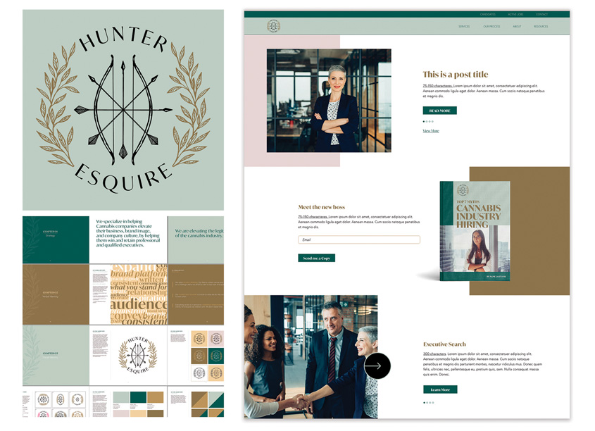 Hunter + Esquire CBD Brand and Visual Identity by Branding For The People