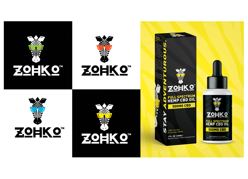 ZOHKO New CBD Brand and Visual identity by Branding For The People