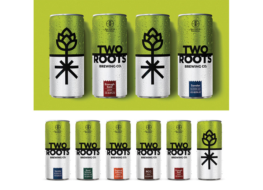 Two Roots Cannabis Beer Cans by MiresBall