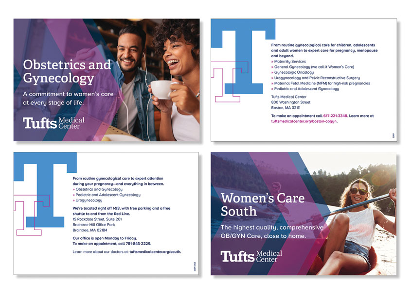 Tufts Medical Center Womenés Care Postcard Series