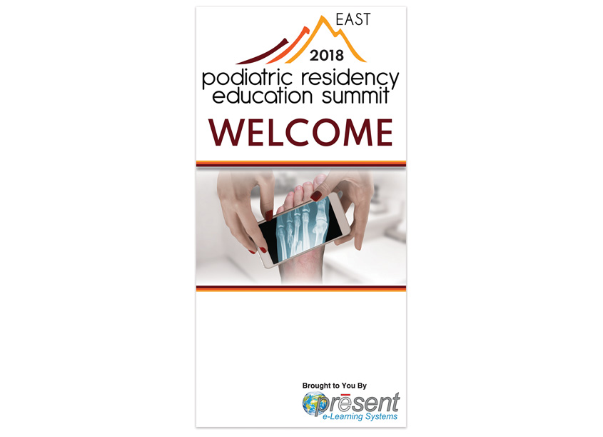 Podiatric Residency Education East Summit Banner by PRESENT e-Learning Systems
