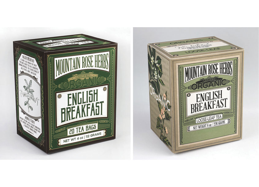 Redesigned Organic Tea Packaging by Mountain Rose Herbs