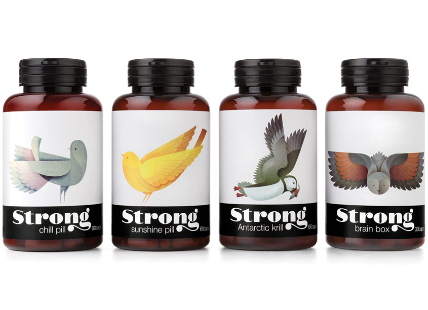 Strong Nutrients Package Design by Pearlfisher