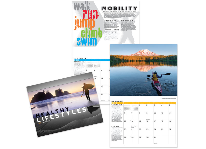 Healthy Lifestyles 2019 Calendar by Teldon