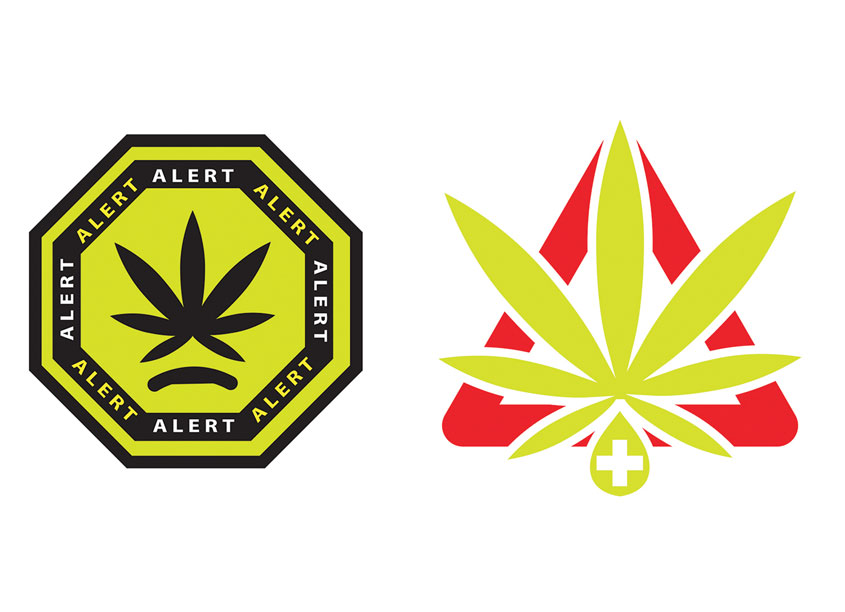 Universal Medical Marijuana Icon & Child Warning Symbol by Youngstown State University