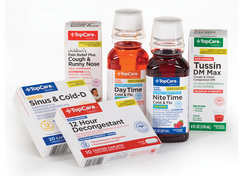 Topco Associates LLC Top Care Cold Medicine Package Redesign