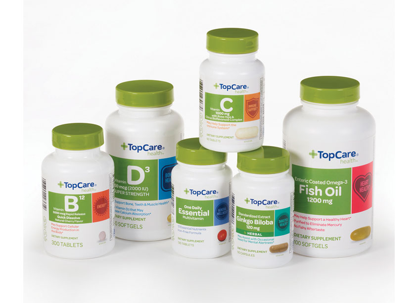 Topco Associates LLC Top Care Vitamins Package Redesign