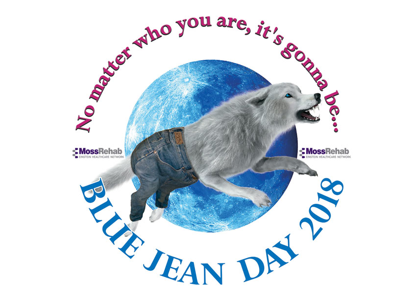 Ron Kalstein/RKDK Design BlueJean Day Fundraiser Button
