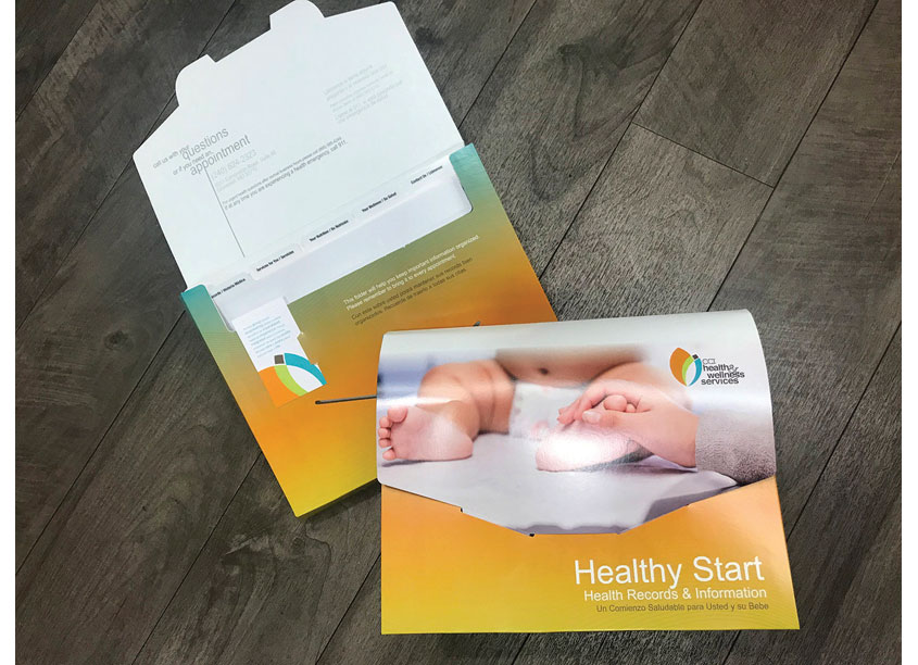 Healthy Start - Health Record Folder For New Moms by CCI Health & Wellness Services