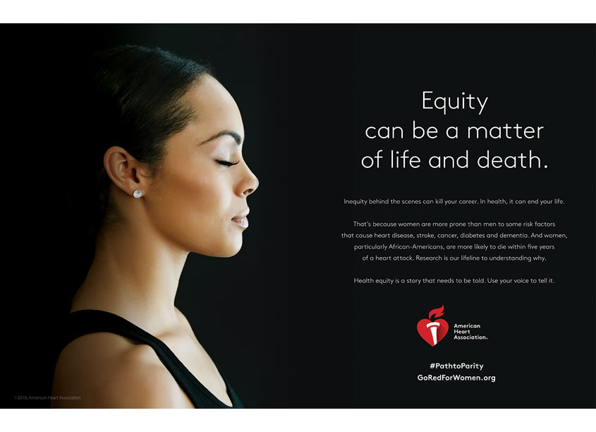 American Heart Association Path To Parity Advertisement for Variety Magazine