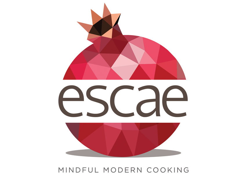 Escae: Mindful Modern Cooking Logo by Hudson Valley Graphic Design