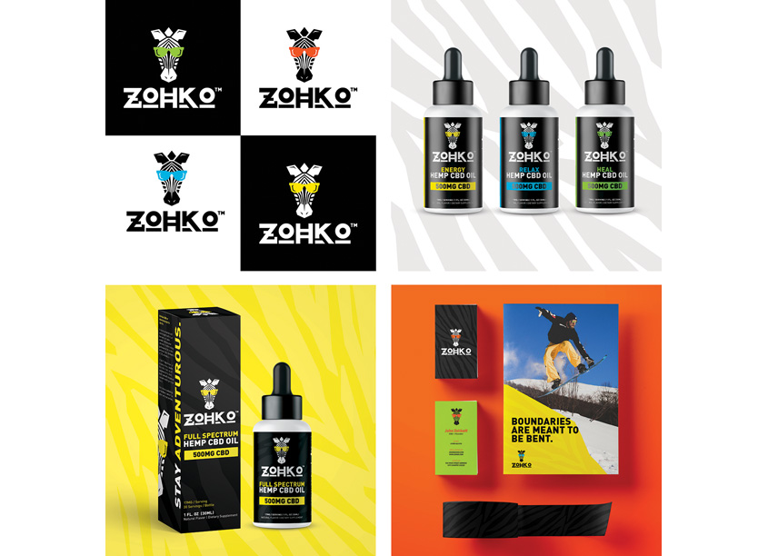 Branding For The People ZOHKO New CBD Brand and Visual identity