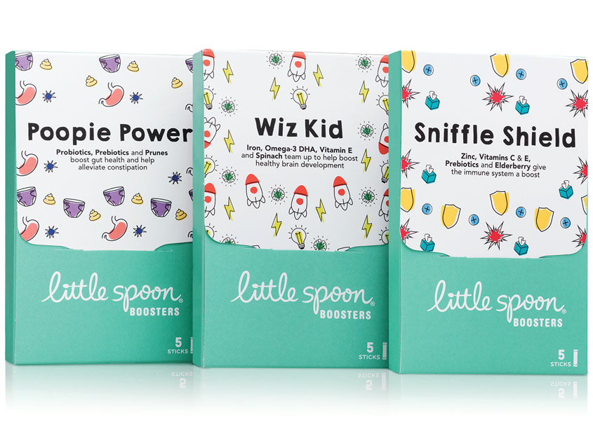 Little Big Brands Boosters Package Design