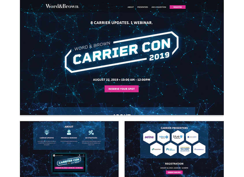 The Word & Brown Companies Word & Brown Carrier Con 2019 Microsite