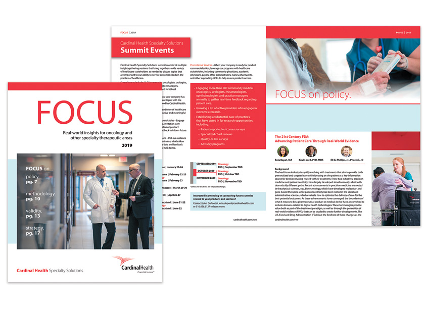 Cardinal Health Specialty Solutions FOCUS 2019 Magazine Design