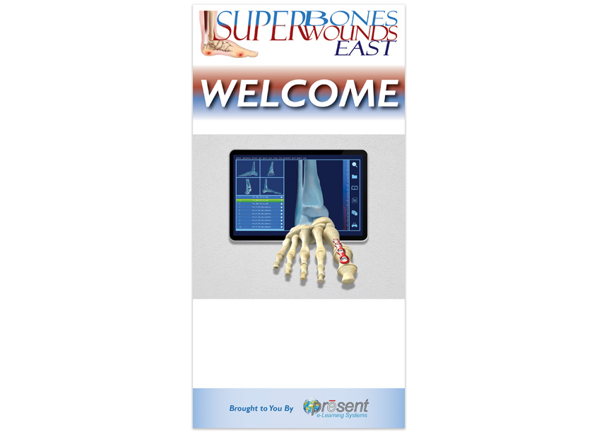 PRESENT e-Learning Systems Superbones Superwounds East 2019 Welcome Banner