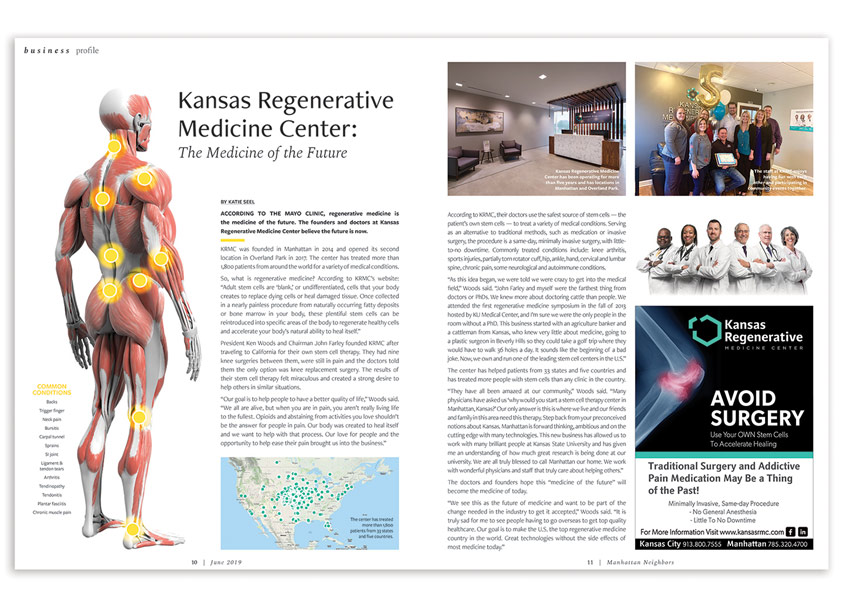 Best Version Media Kansas Regenerative Medicine Center Editorial