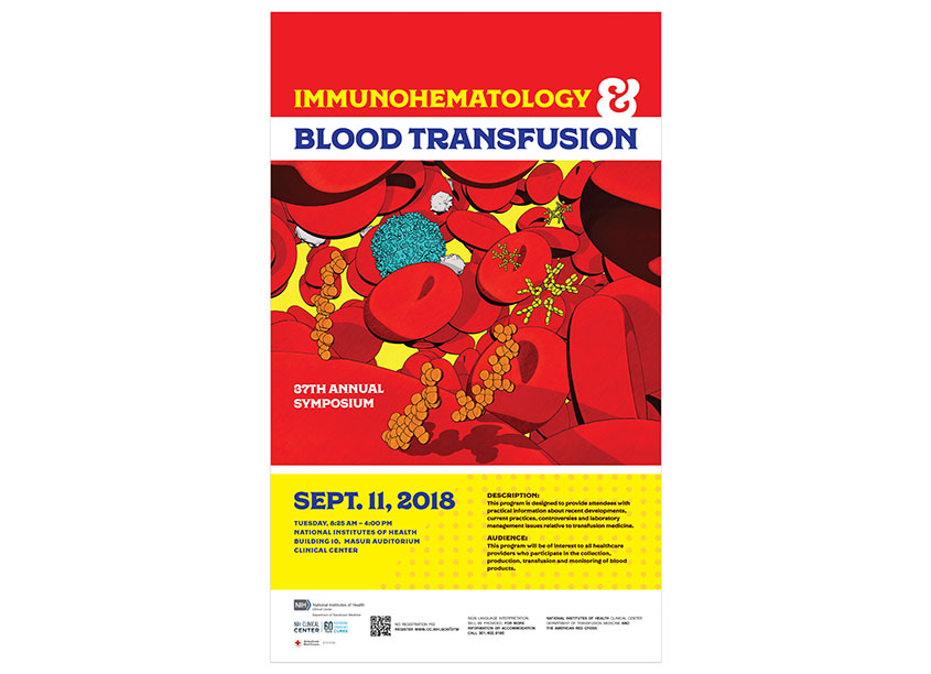 Immunohematology & Blood Transfusion Symposium Poster by National Institutes of Health (NIH) Medical Arts