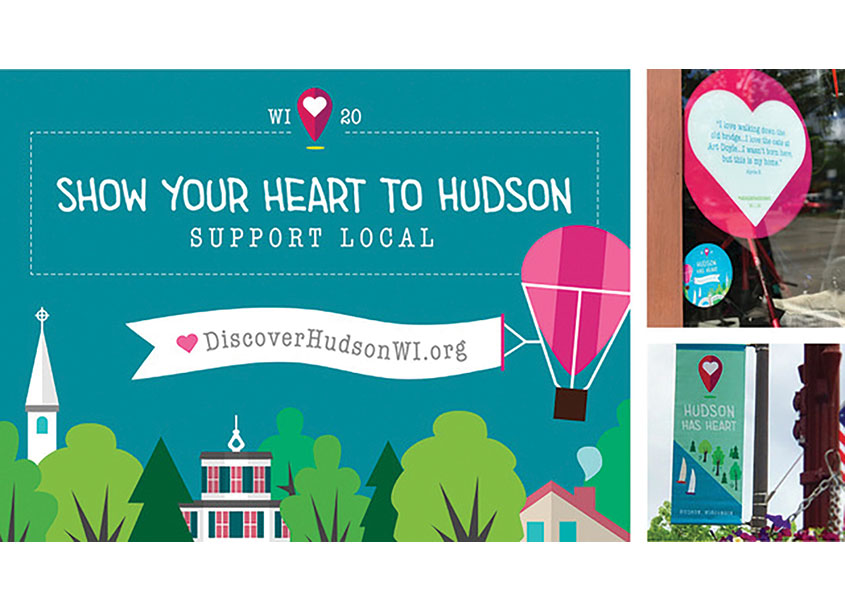 #WeHeartHudsonWI by Christiansen Creative