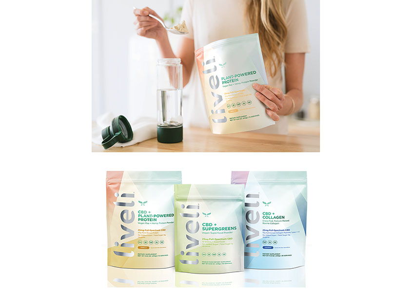 BexBrands Liveli CBD Product Packaging