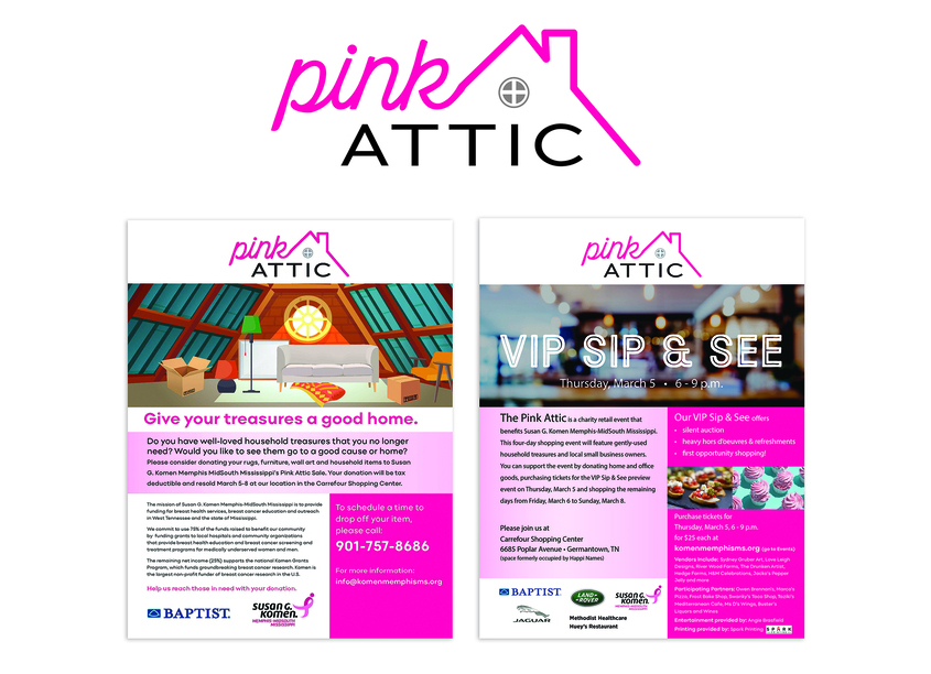 Baptist Memorial Health Care Creative Pink Attic Logo
