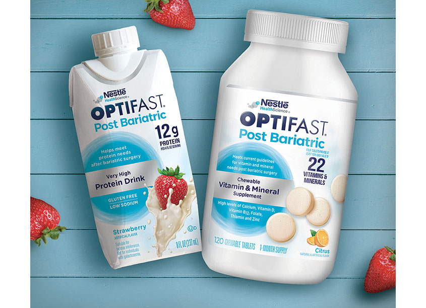 Optifast Post Bariatric Package Design by Zack Group, LLC