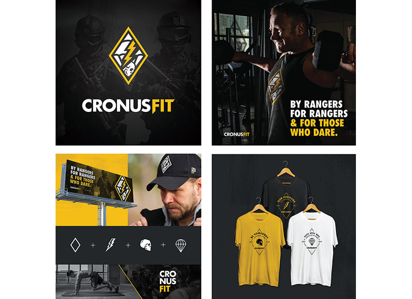 Cronus Fit Brand Identity by Southpaw Projects, LLC