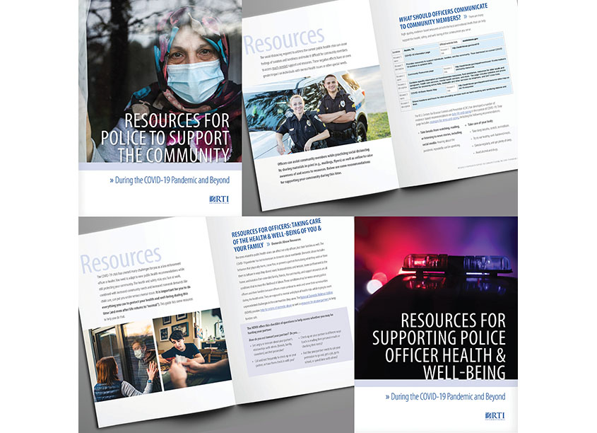 COVID-19 Police Resources Customizable PDF Brochures by RTI International