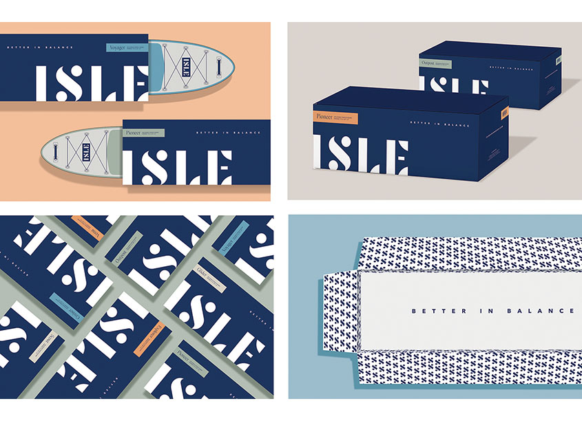 ISLE iSUP Package Design by BLVR