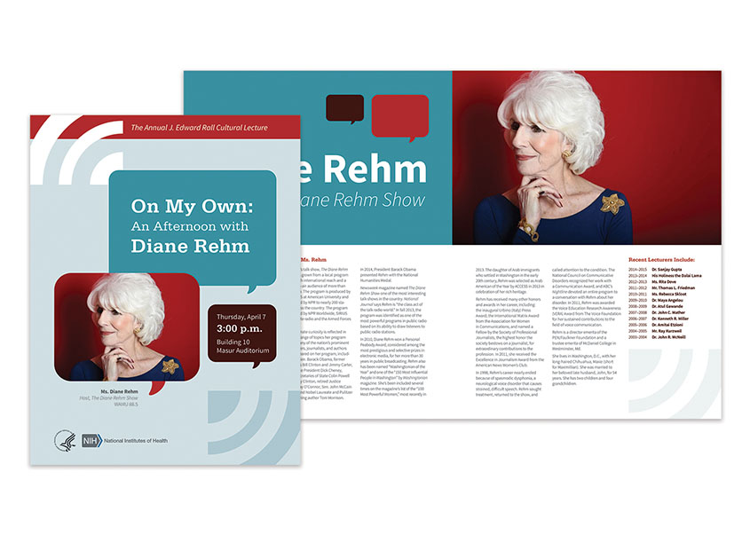 Cultural Lecture: An Afternoon with Diane Rehm by National Institutes of Health (NIH) Medical Arts