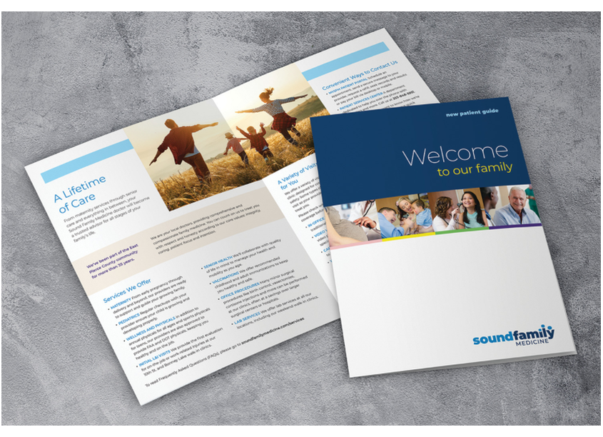 New Patient Guide by Sound Family Medicine In-house Marketing