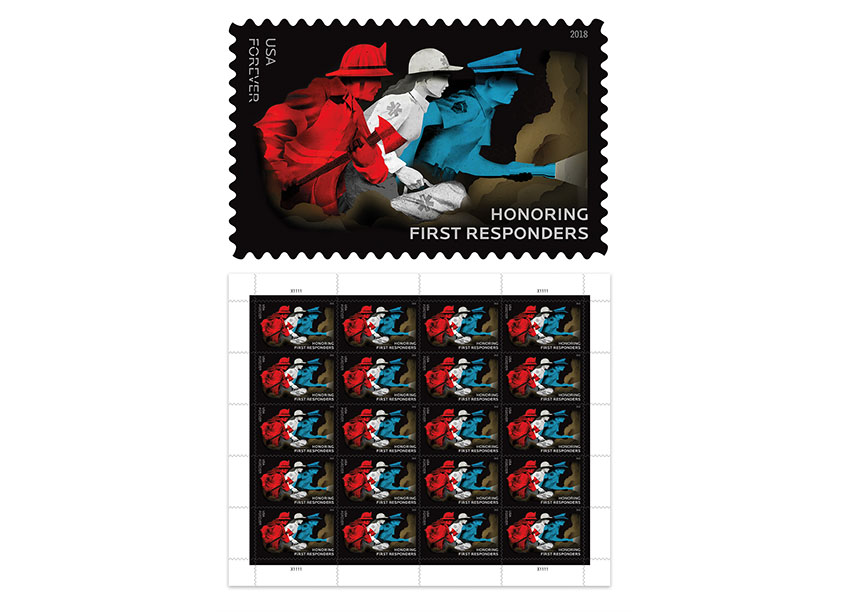 Honoring First Responders by United States Postal Service/Studio A